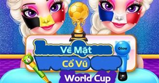 Vẽ mặt cổ vũ World Cup