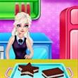 Elsa làm bánh sandwich