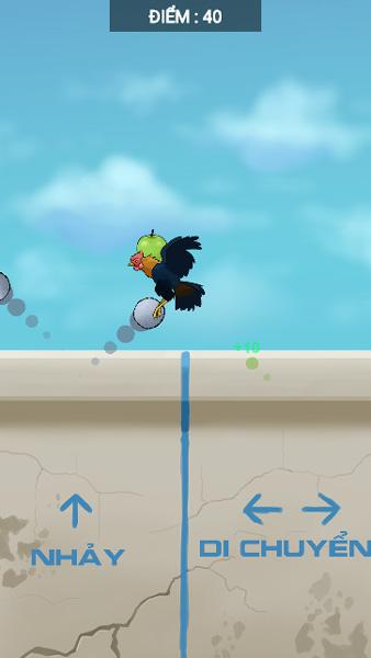 Điều khiển chú gà trống trong game