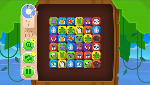 Chơi game Nối hình giống nhau trên GameVui