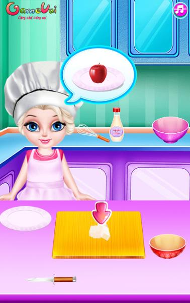Chơi game Bé Elsa vào bếp trên GameVui
