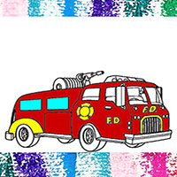 Coloring Pages Fire Trucks