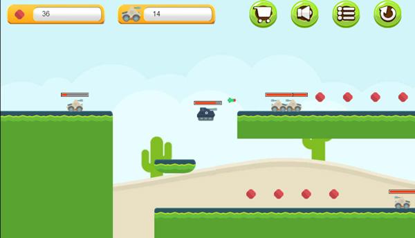 Chơi game Đấu trường xe tăng 2 tại GameVui