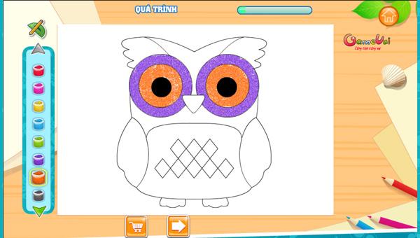 Chơi game Betsy vẽ tranh cát màu trên GameVui