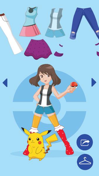 Chơi game Trang phục Pokemon trên GameVui