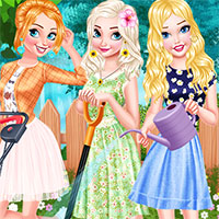 Princesses Gardening In Style