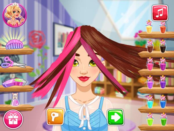 Chơi game Olivia dưỡng tóc trên GameVui