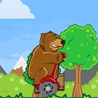 Bear on a scooter