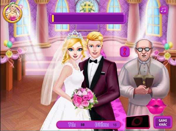 Kiss trong lễ cưới