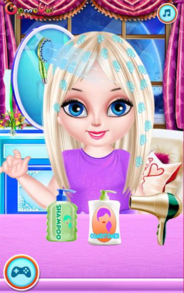 Làm tóc cho bé Elsa