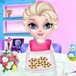 Elsa làm bánh quy