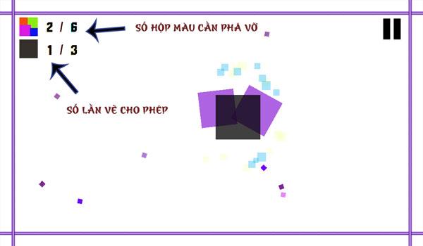 Màn hình game Phá hủy hộp màu