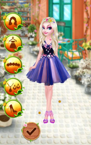 Giúp Elsa trở nên thật xinh đẹp và hấp dẫn với Thời trang Hoa