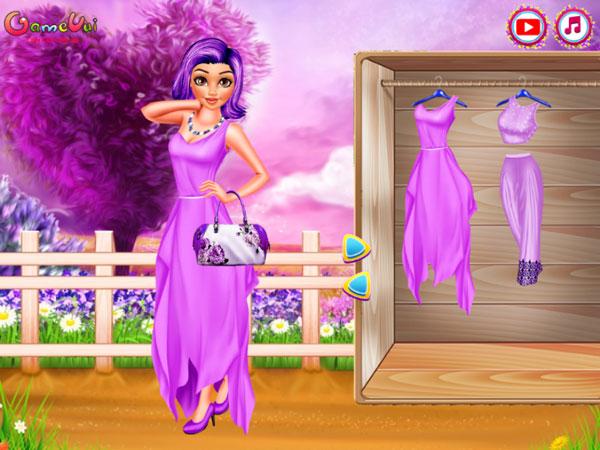 Giúp công chúa Elsa, Moana thay đổi thời trang game Giấc mơ Lavender