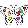 Tô màu bươm bướm