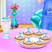 Elsa làm bánh donut