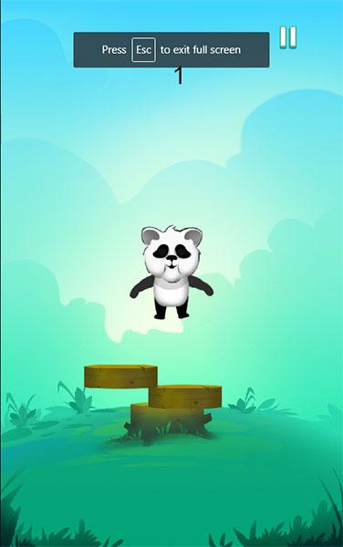 Panda nhảy cao