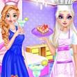 Elsa và Anna làm bữa trà chiều