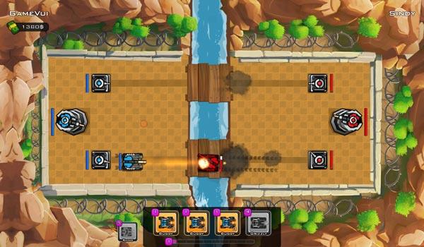 Game Trận địa xe tăng 3D trên GameVui
