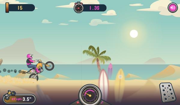 Chơi game Đua xe máy 1 bánh tại GameVui