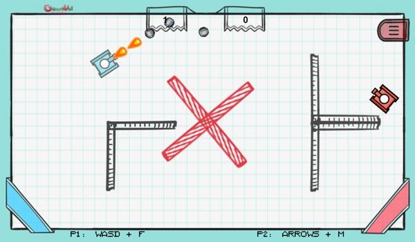 Chơi game Bắn xe tăng trên giấy tại GameVui
