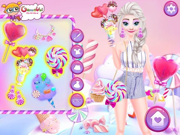 Chơi game Barbie và Elsa đi công viên Kẹo Ngọt tại GameVui