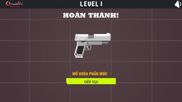 Hoàn thành thử thách Lắp súng