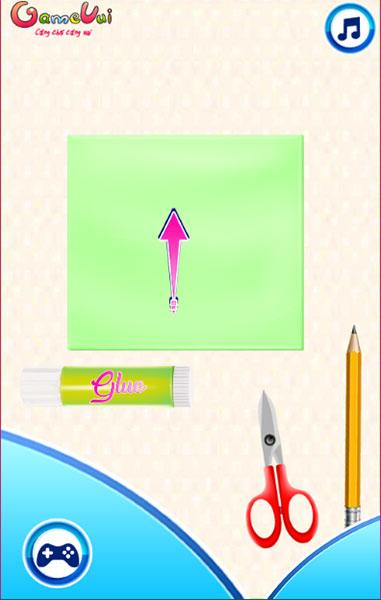 Hãy giúp Elsa và Anna gấp giấy origami