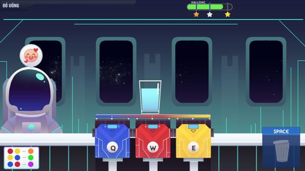 Pha chế nước nhiều màu sắc và phục vụ khách hàng GameVui