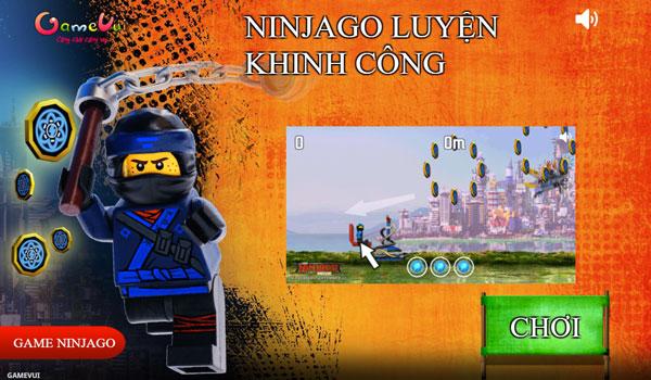 Chơi game Ninjago luyện khinh công - GameVui