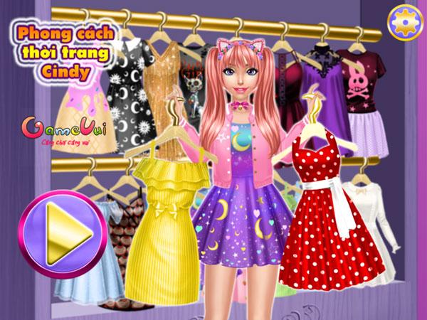 Chơi game Phong cách thời trang Cindy - GameVui