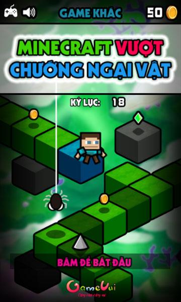 Chơi game Minecraft vượt chướng ngại vật - GameVui