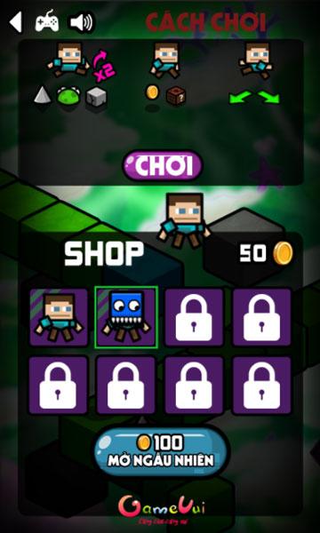 Mở khóa nhân vật Minecraft trong Shop cửa hàng