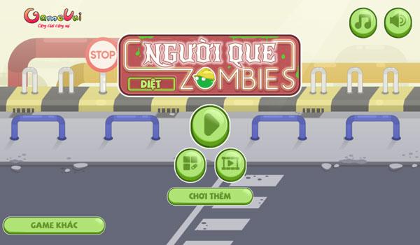 Chơi game Người que diệt Zombie - GameVui