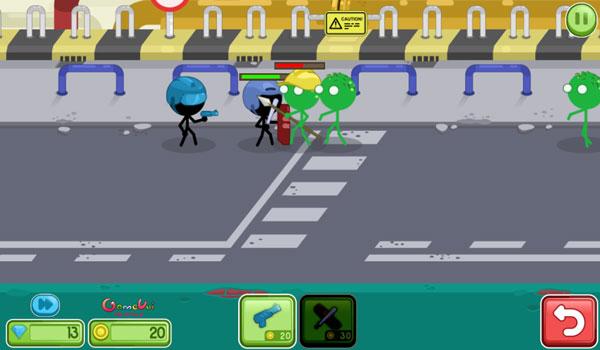 Điều khiển đội quân người que stickman diệt zombie