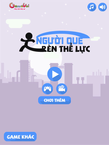 Chơi game Người que rèn thể lực - GameVui