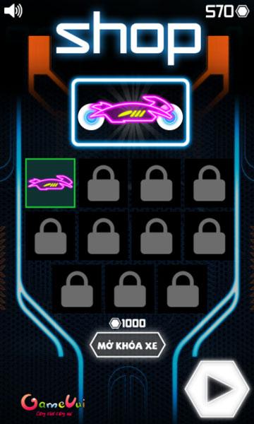 Mở khóa mẫu xe đua neon mới