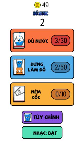 Chơi game Đổ nước 3 - GameVui