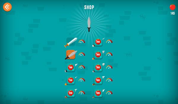 Mua thêm các loại dao trong Shop cửa hàng