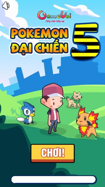 Chơi game Pokemon đại chiến 5 - GameVui