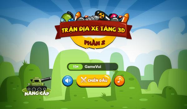 Chơi game Trận đia xe tăng 3D P2 - GameVui