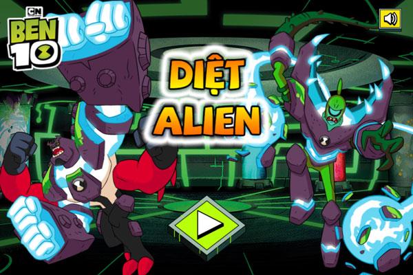Chơi game Ben 10 diệt Alien - GameVui