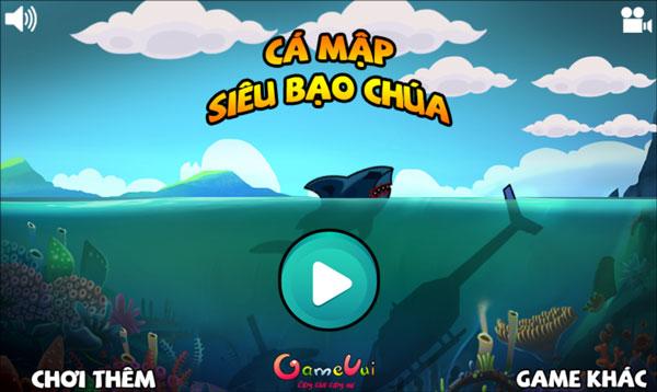 Chơi game Cá mập siêu bạo chúa - GameVui