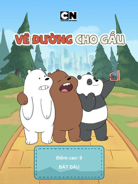 Chơi game Vẽ đường cho gấu - GameVui