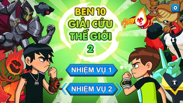 Chơi game Ben 10 Giải cứu thế giới 2 - GameVui
