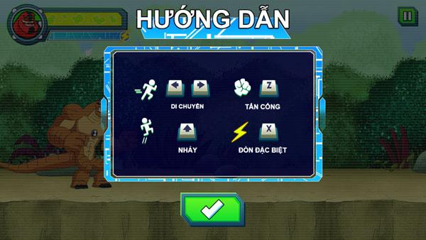 Hướng dẫn chơi game Ben 10 - GameVui