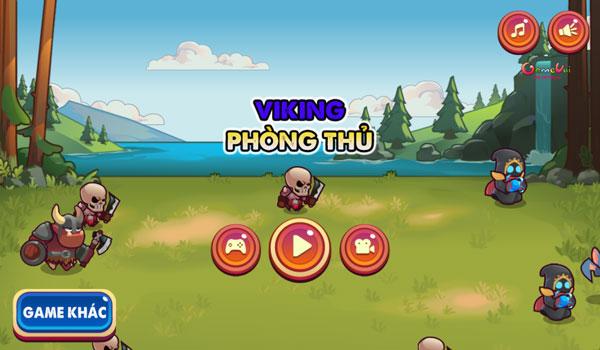 Chơi game Viking phòng thủ - GameVui