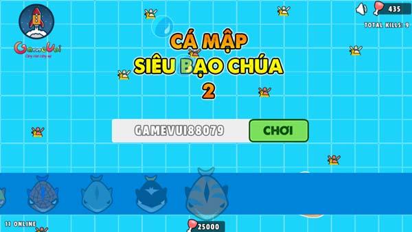 Chơi game Cá mập siêu bạo chúa 2 - GameVui
