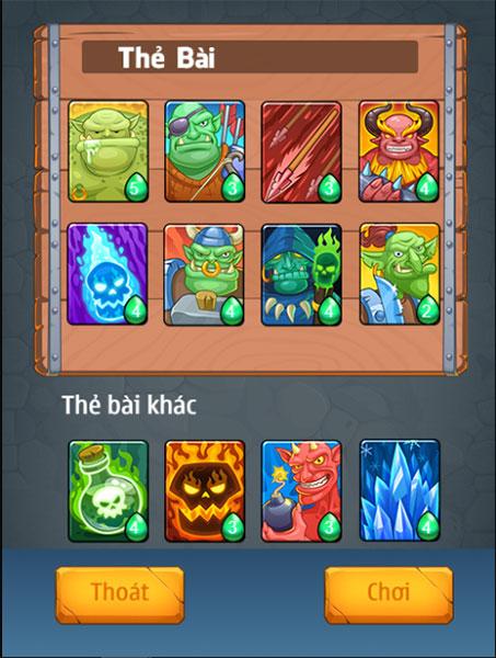 Các loại thẻ tướng trong game