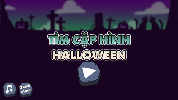 Chơi game Tìm cặp hình Halloween - GameVui